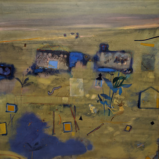 Robert Juniper  the road to great fingal  Oil on canvas 1978