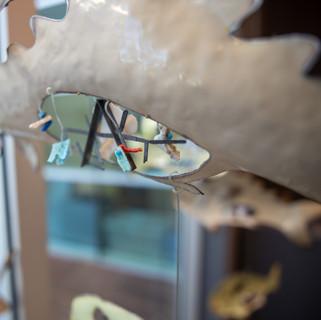 Carolyn Francis  wtfish  Medium: Whitegood metal & plastic objects