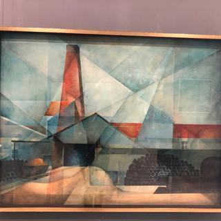 Ernest Philpot  tile works - bristile  Oil on board, 1956