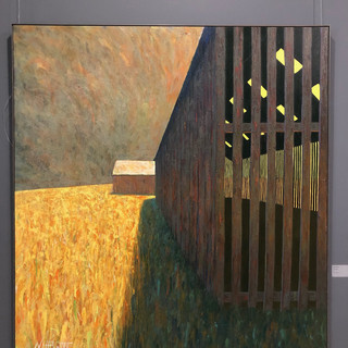 Nigel Hewitt  drying sheds  Acrylic on Belgian linen 2007