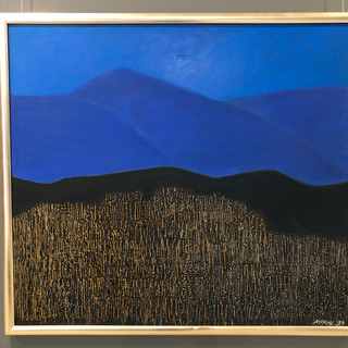 Brian McKay  bush fire  Oil and collage on canvas, 1993