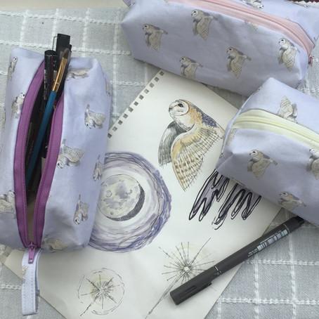 Barn Owl pencil cases