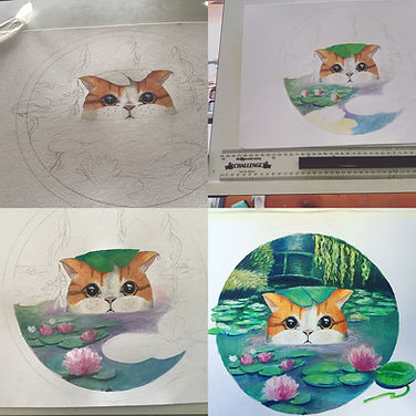 Waterlily kitty progress.jpeg