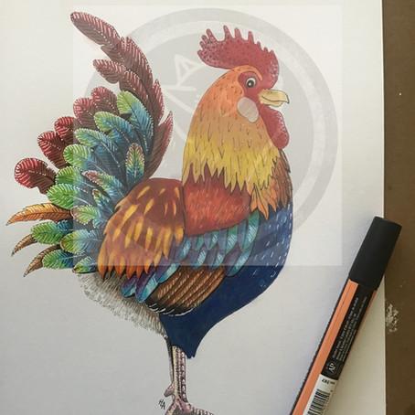 Cock a doodle doo!
