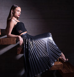 Fashion Model on Stairs