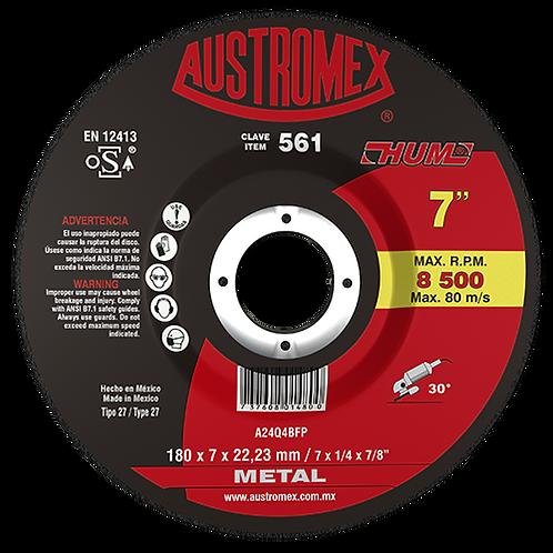 561 Disco desbaste de metal 7X1/4X7/8