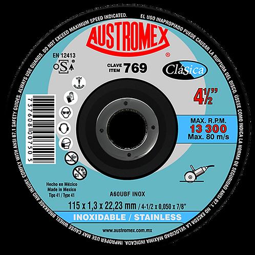 769 Disco corte de inoxidable 4-1/2X0.04X7/8