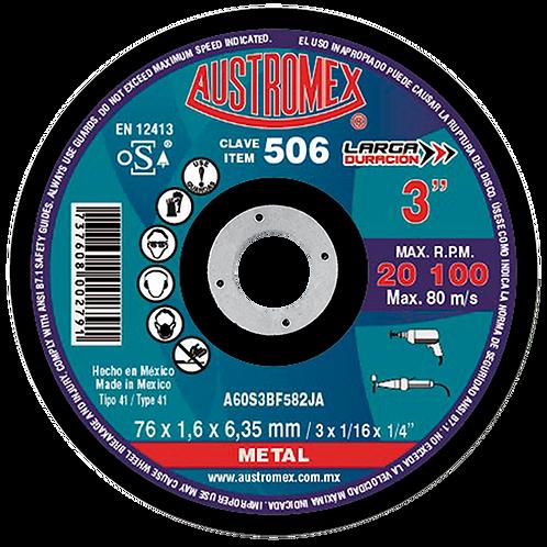 506 Disco corte de metal 3X1/16X1/4
