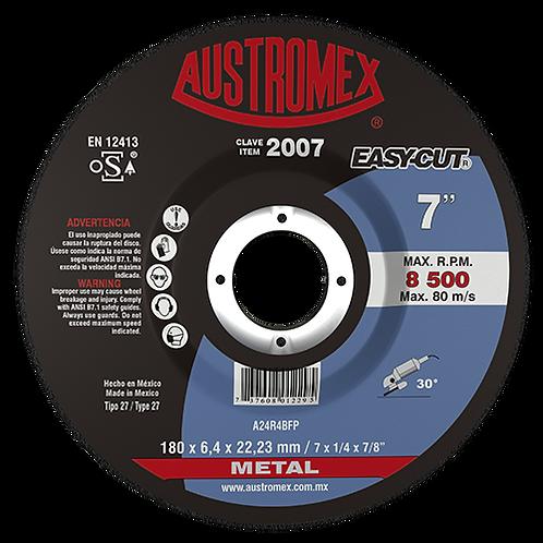 2007 Disco desbase de metal 7X1/4X7/8