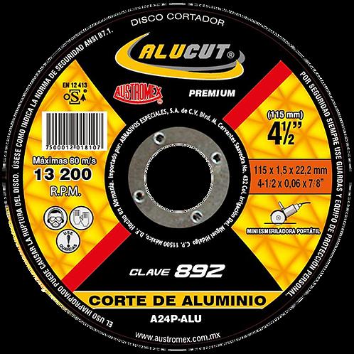 892 Disco corte de aluminio 4-1/2X0.06X7/8