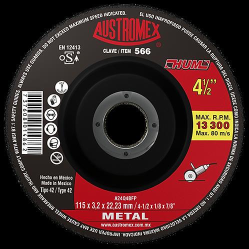 566 Disco corte de metal 4-1/2X1/8X7/8