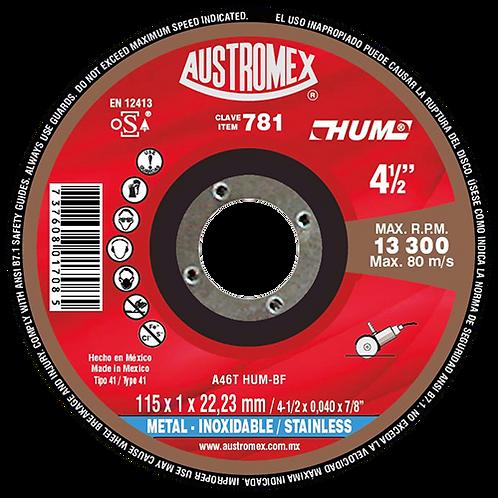 781 Disco corte inoxidable 4-1/2X3/64X7/8