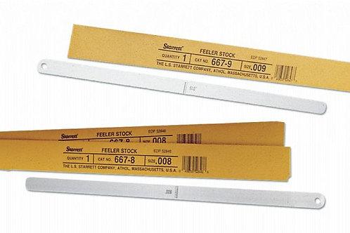 667M-35 Medidor de espesor o stock de espesores, .35 mm de grosor, 30 cm de long