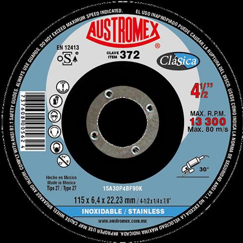 372 Disco desbaste inoxidable 4 1/2X1/4X7/8