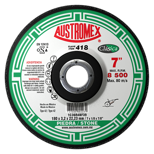 418 Disco corte de piedra 7X1/8X7/8