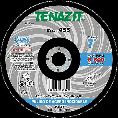 455 Disco pulido de inoxidable 7X3/16X7/8 A54GFX