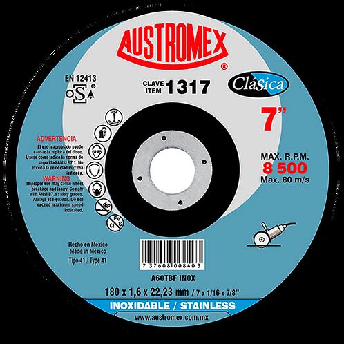 1317 Disco corte de inoxidable 7X1/16X7/8