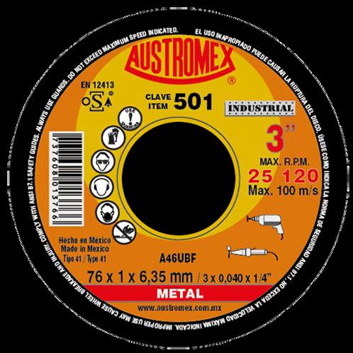 501 Disco corte de metal 3X0.040X1/4