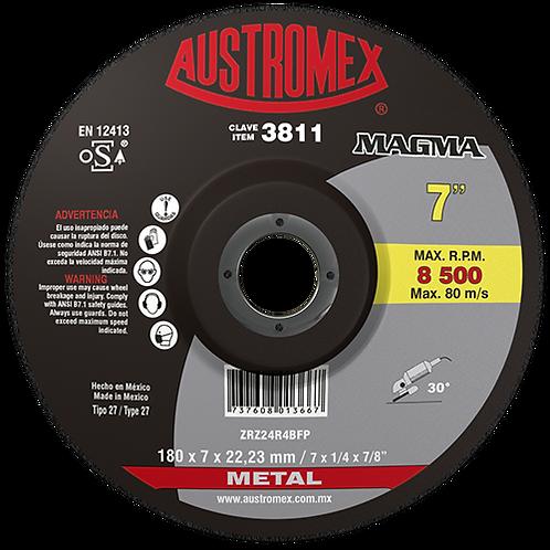 3811 Disco desbaste de metal 7X1/4X7/8