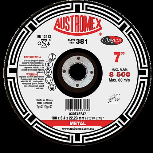 381 Disco desbaste de metal 7X1/4X7/8