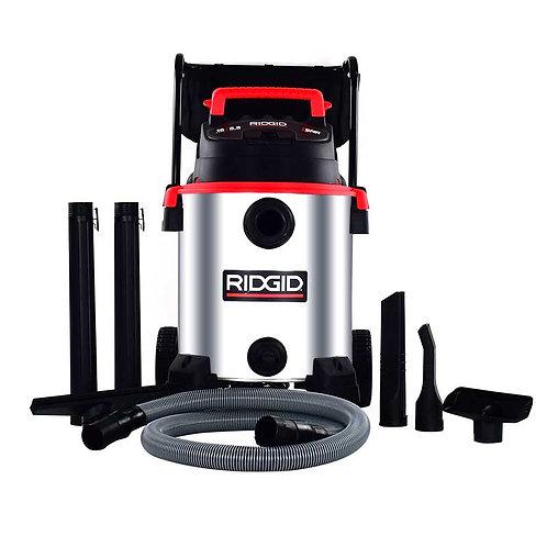 63683 Aspiradora 16 Gal.Mod.1610RVM acero inox.solidos y liquidos c/carro