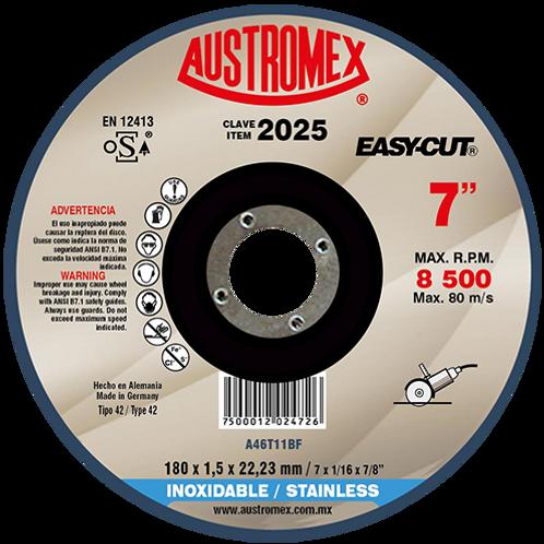2025 Disco corte inoxidable 7X1/16X7/8