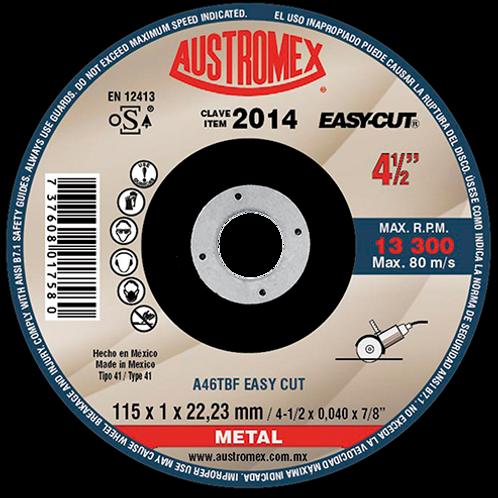 2014 Disco corte de metal 4-1/2X0,040X7/8