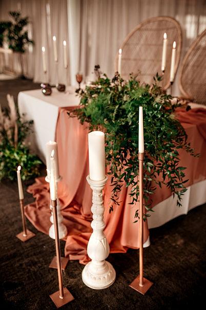 Couple's wedding table