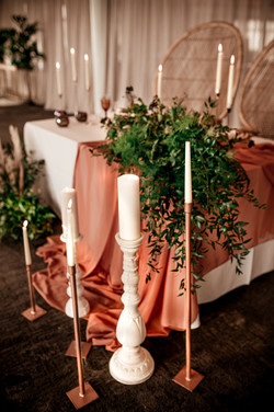 Couple's wedding table