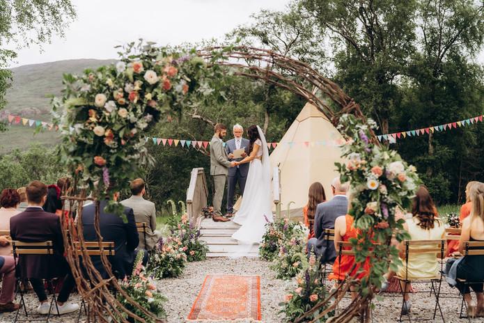 Irish outdoor wedding ceremony