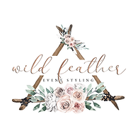 wild feather event styling logo
