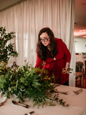 wedding table garland