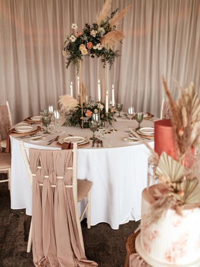 Pampa grass wedding arrangement