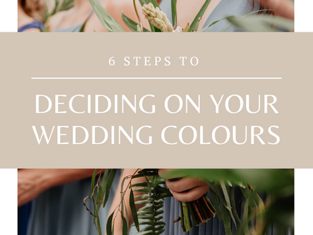 How to decide on your colour palette for your wedding?