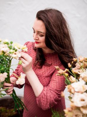 Irish boho wedding florist