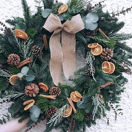 Citrus and cinnamon wreath
