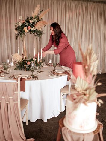 glam boho wedding prep
