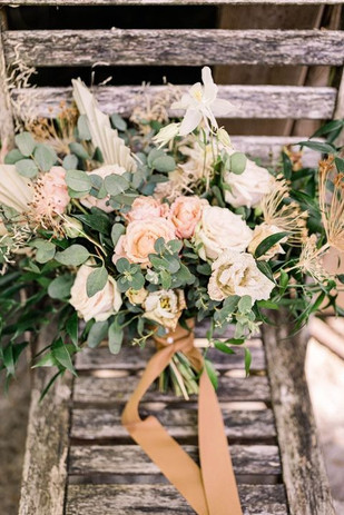 Bridal boho bouquet