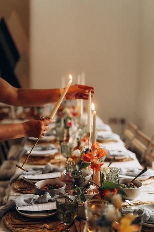 Wedding candle light dinner