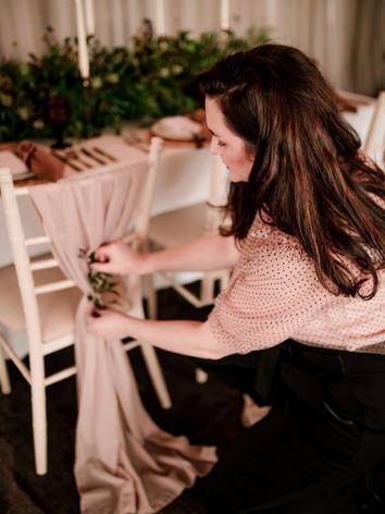 wedding chair drape styling