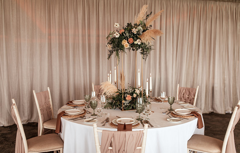 Pampas grass wedding Table centrepiece