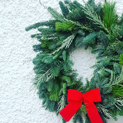 Botanical christmas wreath