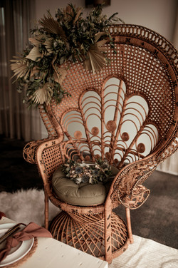 Majestic floral peacock chair