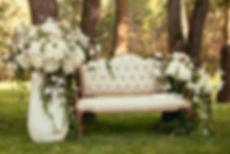 décors canapé fleuri mariage