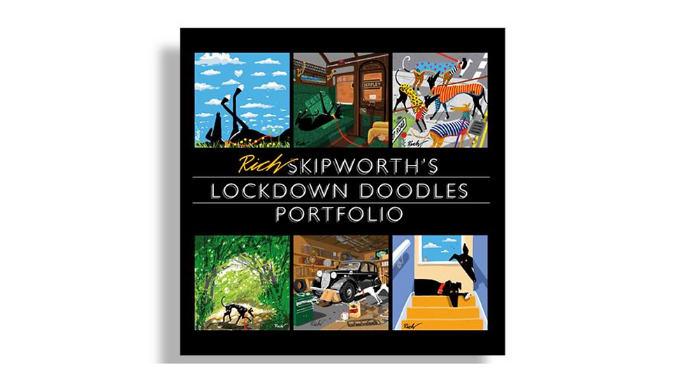 USA Pre-Order Rich Skipworth's Lock Down Doodles Book