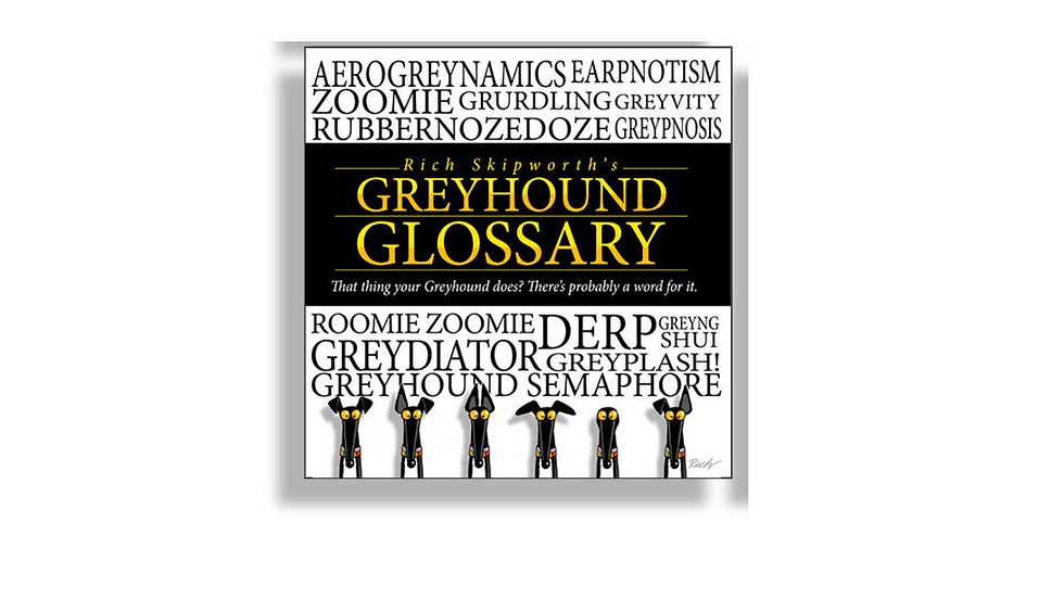 USA -  Pre-Order Rich Skipworth's Greyhound Glossary 1