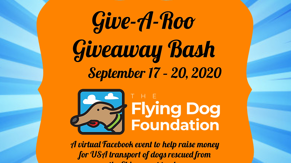 Register for Give-A-Roo Giveaway Bash