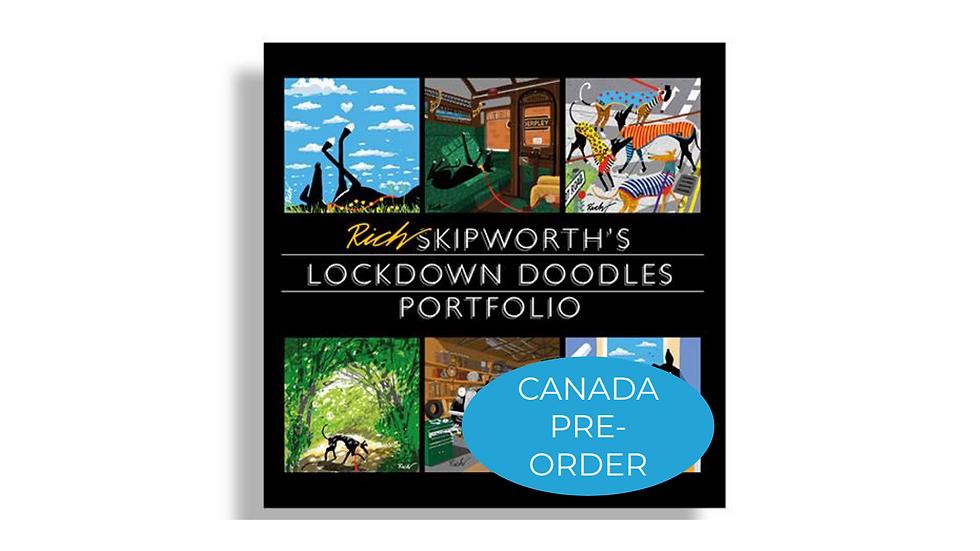 CANADA Pre-Order Rich Skipworth's Lock Down Doodles Book