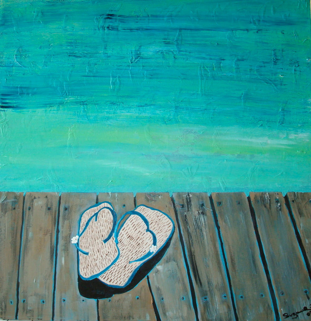 Flip Flops On The Dock