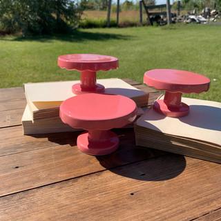 Dark Pink Cupcake Stands - $0.50 each